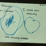 A real drawing by a child experiencing divorce and custody battle