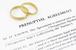 A prenuptial agreement contract
