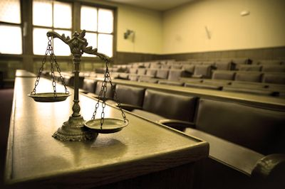 Courtroom image about child custody