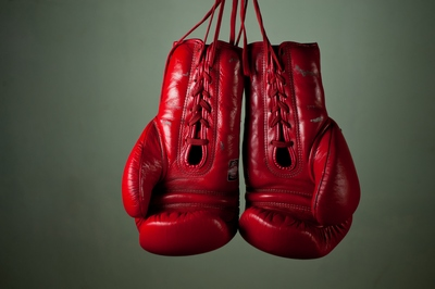Boxing gloves for contested divorce